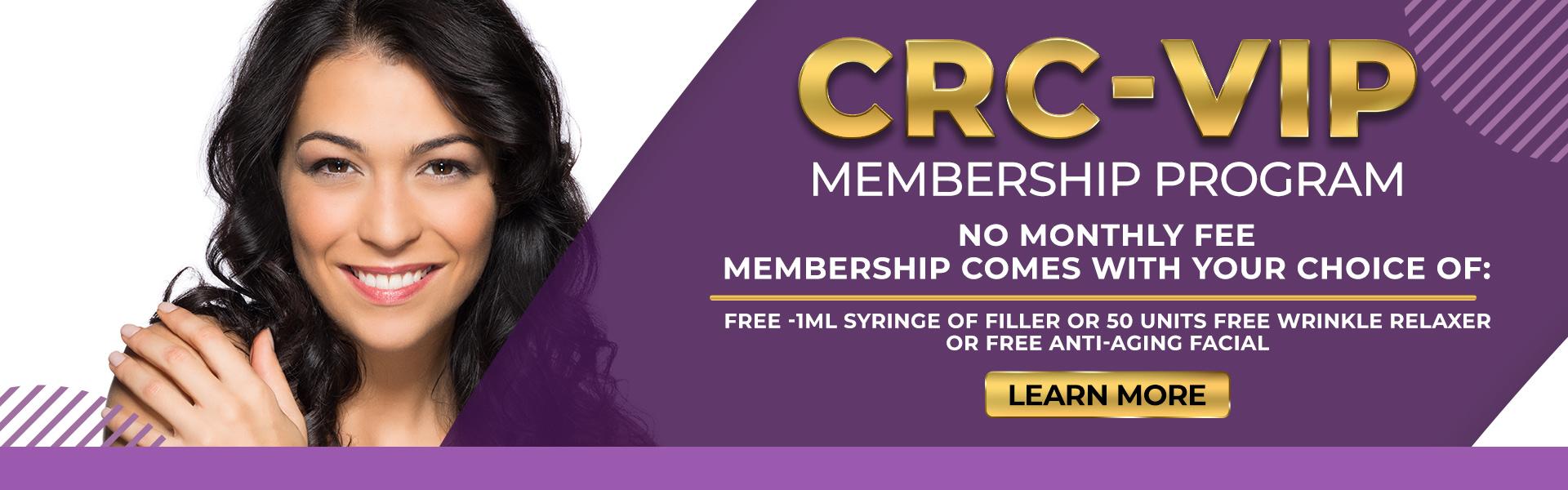 CRC-VIP Membership Program | Cosmetic Rejuvenation Center | Advanced Skin Care Clinic | Pepper Pike, OH